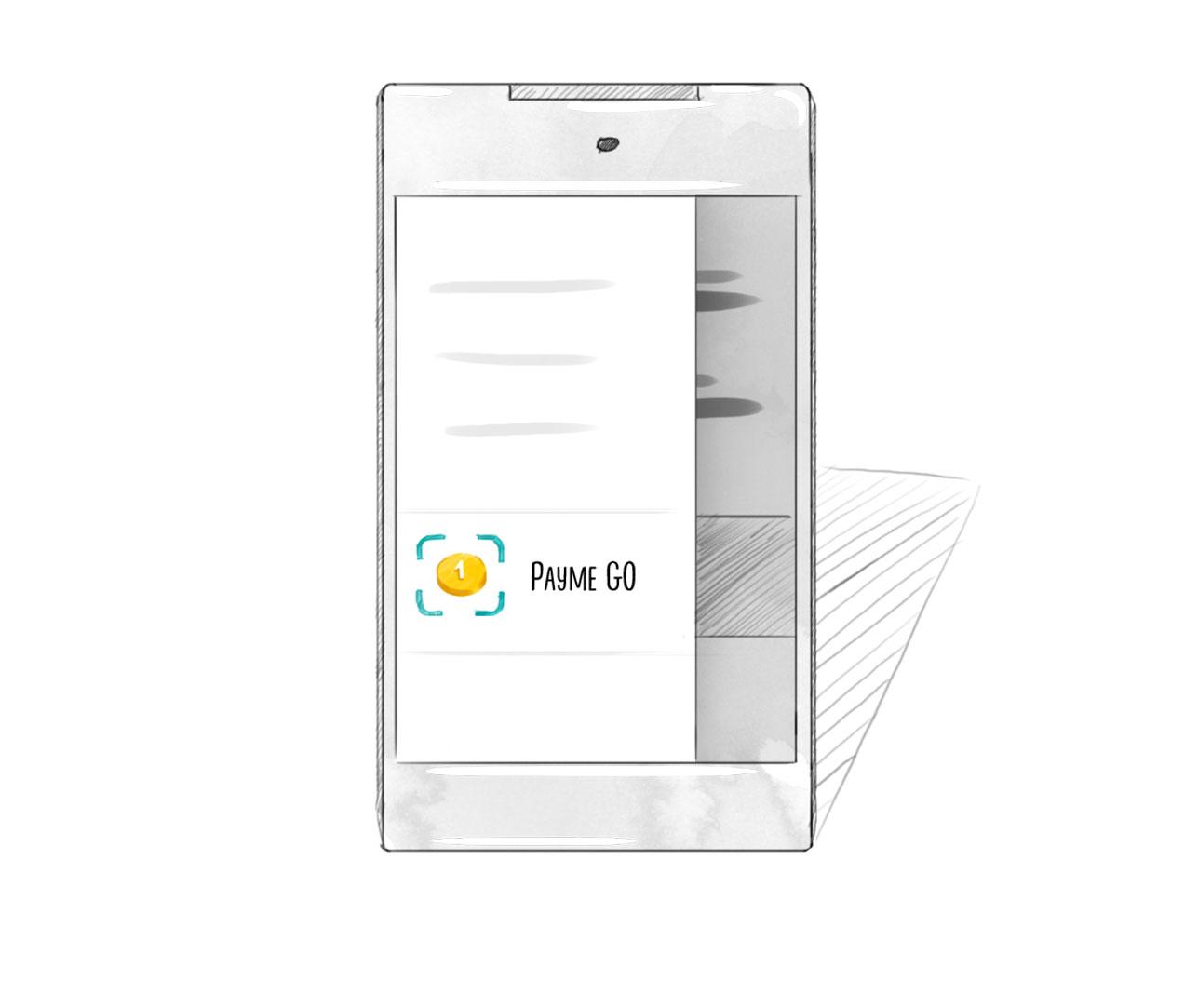 Откройте меню в приложении Payme и выберите Payme GO