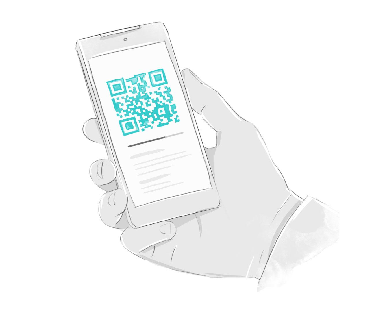 Выбрав Payme GO  Вы увидите QR-код и штрих-код